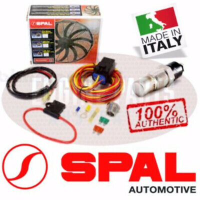 100% Authentic SPAL 185°F (85°C) Thermo-Switch, Relay & Harness Fan Harness Kit