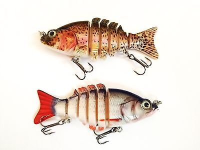 2 X SWIM JOINTED 13g 10cm Hardbait Lure Esca Artificiale Pesca Spinning Mare