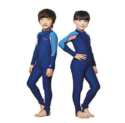Kids Scuba Diving Skin Snorkeling Surf Jumpsuit Full Wetsuit Rash Guard Swimwear