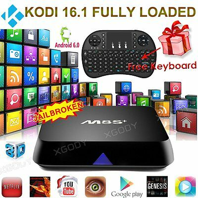 2016 New M8S+ PLUS Quad Core Android 6.0 TV Box KODI Fully Loaded Media Player