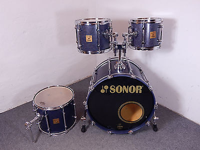 Sonor Force Maple Schlagzeug 22,10,12,14 Shellset Tulip Blue  *Made in Germany*