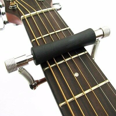 Guitar Rolling Glider Capo for 6-String Guitar Slides Up & Down Quick