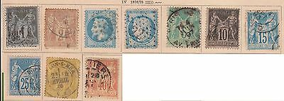 (OL-148) 1862 France 10mix 1c to 40c