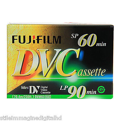 cassetta video mini-dv FUJI FUJIFILM 60 min.Sp /90 min LP DVC Italy NEW