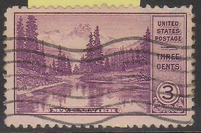 (OL-77) 1934 USA 3c violet Mirror lake Mt Rainier (C)