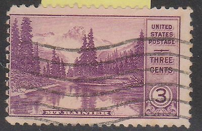(OL-76) 1934 USA 3c violet Mirror lake Mt Rainier (B)