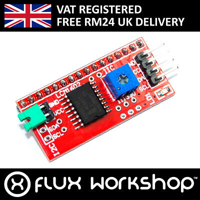 Funduino LCD I2C Interface Adapter MD-063 1602 2004 PCF8574 Keyes Flux Workshop