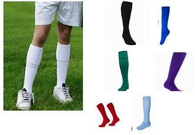 2 x PAIR OF FOOTBALL PLAIN RUGBY HOCKEY SOCCER PE MEN WOMEN UNISEX SPORTS SOCKS