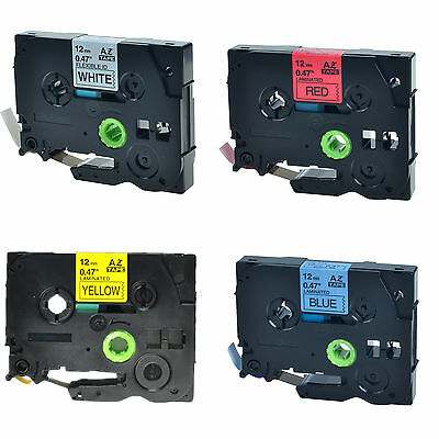 4PK TZe TZ 231 431 531 631 Label Tape For Brother P-Touch PT-9800PCN D200 D210