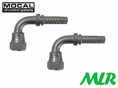 MOCAL HEF97-6 90° -6JIC FUEL/OIL HOSE PIPE FITTING UNION FOR 10mm HOSE PAIR BBD2