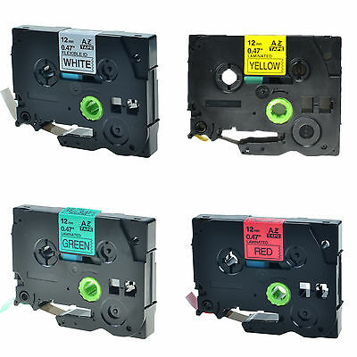 4PK TZe TZ 231 431 631 731 Label Tape For Brother P-Touch PT-9500PC 9600 9700PC