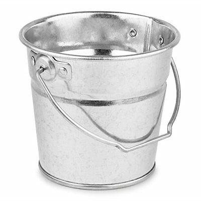 4 x GALVANISED Steel SERVING Buckets Ideal for Chips Fries Food Presentation