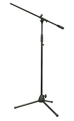 Microphone Stand with Tripod Legs and Boom Arm Foldaway Legs