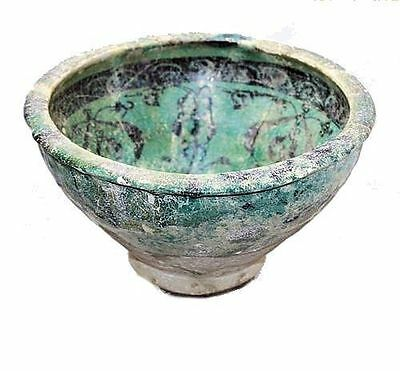 Large Ancient ISLAMIC POTTERY BOWL, SULTANABAD, C.1000 AD.