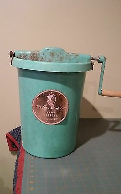Dolly Madison Hand Freezer Ice Cream Maker  Vintage