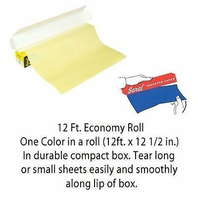 """Saral Wax Free Transfer Paper Yellow 12"""" x 12' Roll 7179-4"""