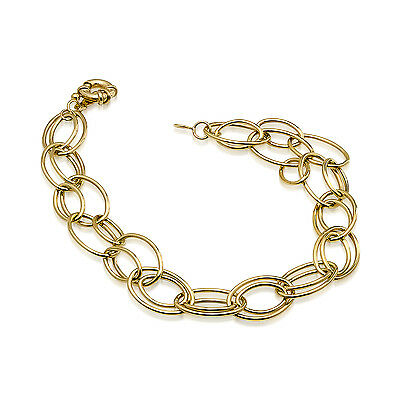 14k Gold Fancy Oval Link Bracelet - SKU #95421