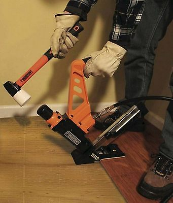 3-in-1 Flooring Air Nailer and Stapler with Fiberglass Mallet, For Wood Flooring