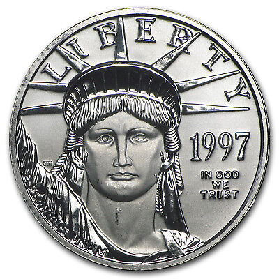 1997 1/4 oz Platinum American Eagle BU - SKU #50129
