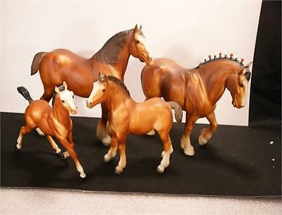 Breyer Clydsdale Horse Set Of Four Horses