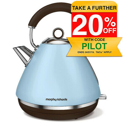 Morphy Richards 102100 Azure Accents Kettle Cordless Tradional 1.5L Matte 2200W