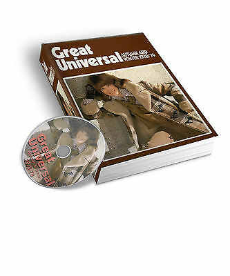 1978-79 Great Universal Mail Order Catalogue Autumn  Winter Pdf & Jpeg On Dvd