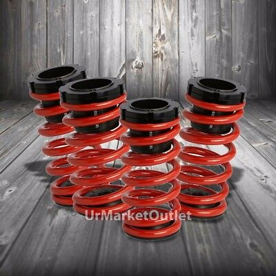 Front/Rear Scaled Black Coilover Red Lowering Spring For 03-07 Corolla E130 1.8L