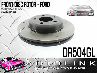 Front Disc Brake Rotor Slotted Left To Suit Ford Falcon Fairlane Ute Ba Bf Fg