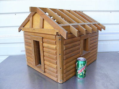 A Log Cabin Home Salesman Sample Model Kalispell MT Lincoln Logs Doll House T