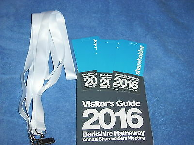 3 Berkshire Hathaway 2016 Annual Meeting Credentials
