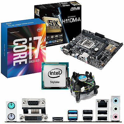 INTEL Core i7 6700K 4.0Ghz & ASUS H110M-A - Motherboard & CPU Bundle