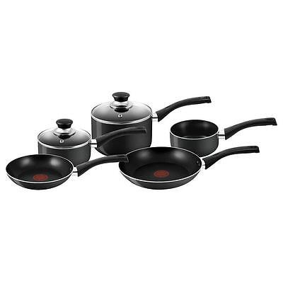 Tefal A169S544 BLACK 5 Piece Thermospot and Dishwasher Safe Cookware Set - New