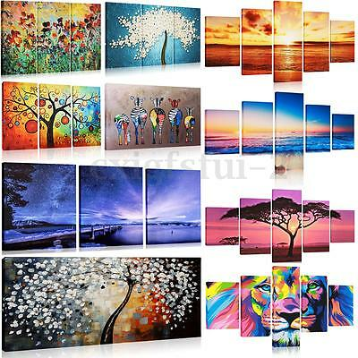 Large Night Beach & Sunset Canvas Print Wall Art Painting Picture Decor No frame