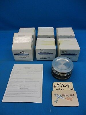 Set of 6 Continental Engine Cylinder Pistons 654723P010BP NEW IN BOX (16764)