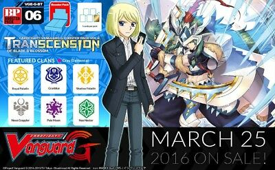 Cardfight!! Vanguard G-BT06 Pale Moon common set (4 of each card)
