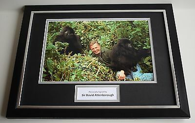 David Attenborough SIGNED FRAMED Photo Autograph 16x12 display Animals TV & COA