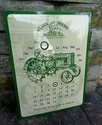 * JOHN DEERE * - large official Perpetual Wall Calendar Sign - Made in Germany
