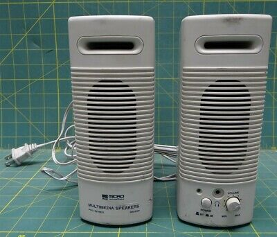USED Micro Innovations Multimedia Speakers Pro-Series MM35P Tested & Works
