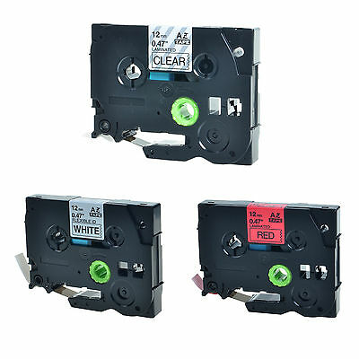 3PK TZe TZ 131 231 431 Label Tape For Brother P-Touch PT-1290RS PT-1300 PT-1400