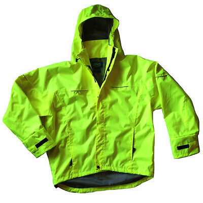 Dutch Harbor Gear TY601 Typhoon Neon Green Hi-Vis Waterproof Rain Jacket, XLarge