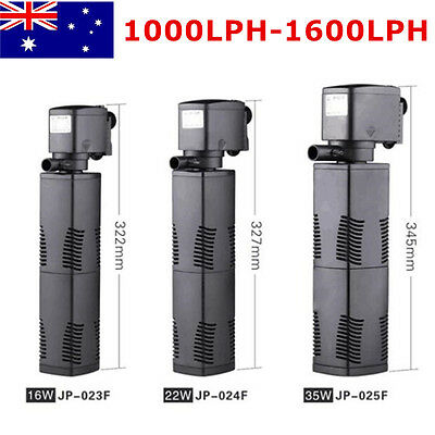 AU Stock Aquarium Filter Submersible Fountain Pond Marine Water Pump 1200L/H 22W