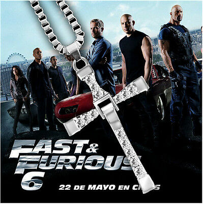 "Fast and Furious Movie Dominic Toretto's Cross Necklace (Pendant + 26"" Chain)"