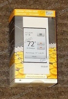 Schluter Systems Ditra Heat E-RT Programmable Touchscreen Thermostat DHERT102/BW