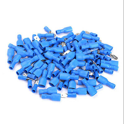 100Pcs Insulated Wire Connector Male & Female Spade Wire Crimp Cable Terminal