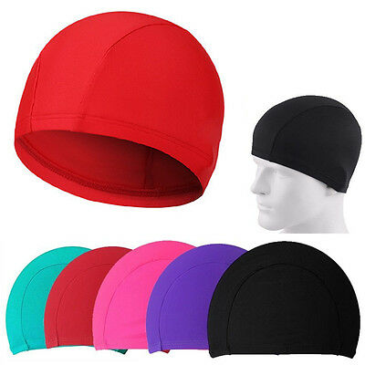 New Unisex Easy Fit Cloth Swimming Hat Swim Cap Bathing 5 Colors to Choose