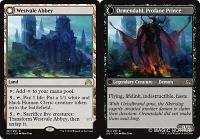 WESTVALE ABBEY | ORMENDAHL, PROFANE PRINCE Shadows over Innistrad MTG Land Rare