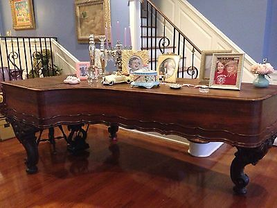 RARE Antique 1800's Concert Grand Ornate Weber Piano,One In Ringling Museum