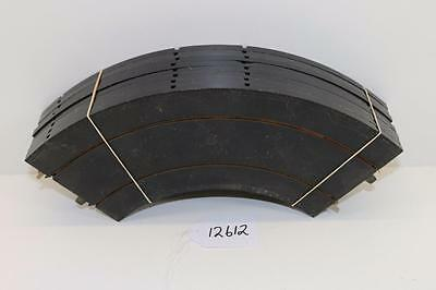Triang Minic motorways M1611 8 x 90º  curved slotcar track in Black 12612
