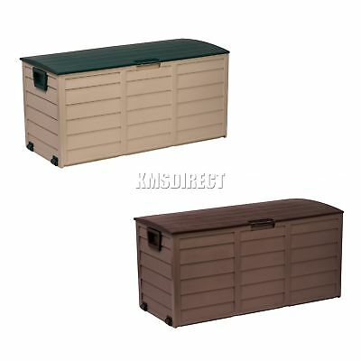 Starplast Outdoor Garden Plastic Storage Utility Chest Cushion Shed Box 227L