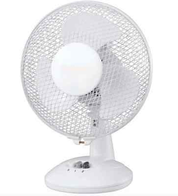 """J-Home 9"""" inch Oscillating Silent Fan Electric Stand Home Office Desk Table Fans"""